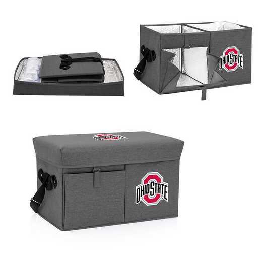 594-00-105-444-0: Ohio State Buckeyes - Ottoman Cooler & Seat (Grey)