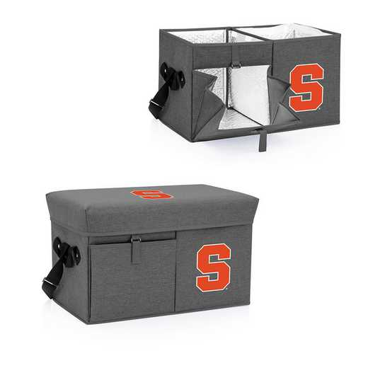 594-00-105-544-0: Syracuse Orange - Ottoman Cooler & Seat (Grey)