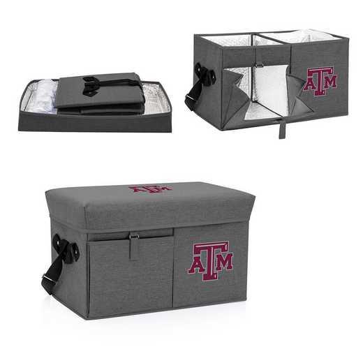 594-00-105-564-0: Texas A&M Aggies - Ottoman Cooler & Seat (Grey)