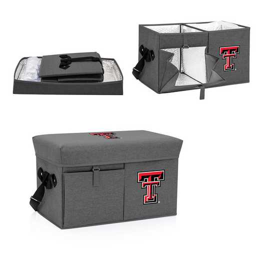 594-00-105-574-0: Texas Tech Red Raiders - Ottoman Cooler & Seat (Grey)