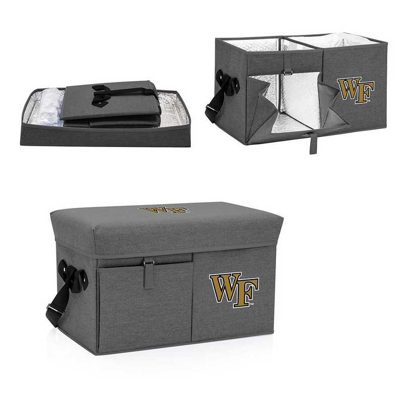594-00-105-614-0: Wake Forest Demon Deacons - Ottoman Cooler & Seat (Grey)