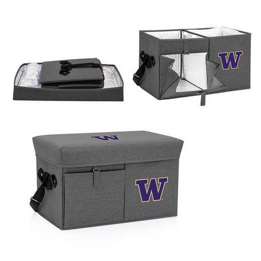 594-00-105-624-0: Washington Huskies - Ottoman Cooler & Seat (Grey)