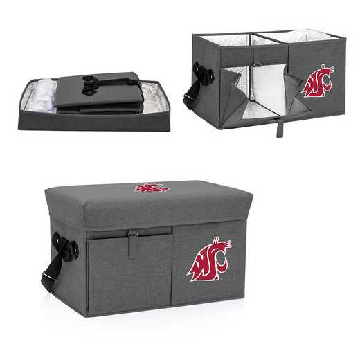 594-00-105-634-0: Washington State Cougars - Ottoman Cooler & Seat (Grey)