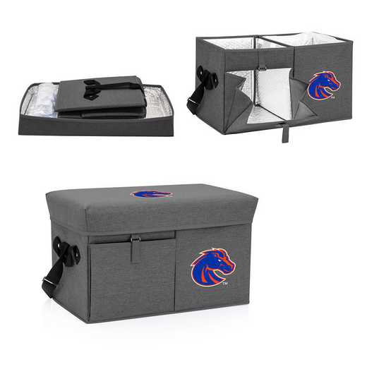 594-00-105-704-0: Boise State Broncos - Ottoman Cooler & Seat (Grey)