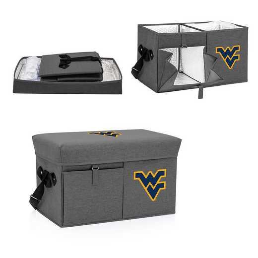 594-00-105-834-0: West Virginia Mountaineers - Ottoman Cooler & Seat (Grey)