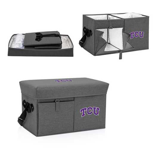 594-00-105-844-0: TCU Horned Frogs - Ottoman Cooler & Seat (Grey)