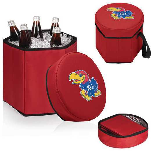 596-00-100-244-0: Kansas Jayhawks - Bongo Cooler (Red)