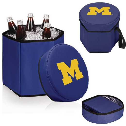 596-00-138-344-0: Michigan Wolverines - Bongo Cooler (Navy)