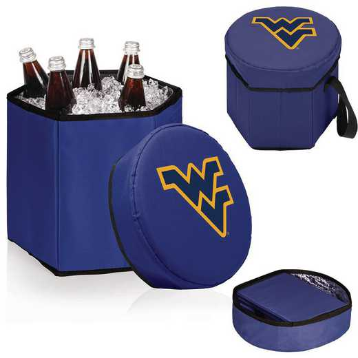 596-00-138-834-0: West Virginia Mountaineers - Bongo Cooler (Navy)
