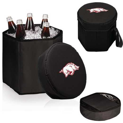 596-00-179-034-0: Arkansas Razorbacks - Bongo Cooler (Black)