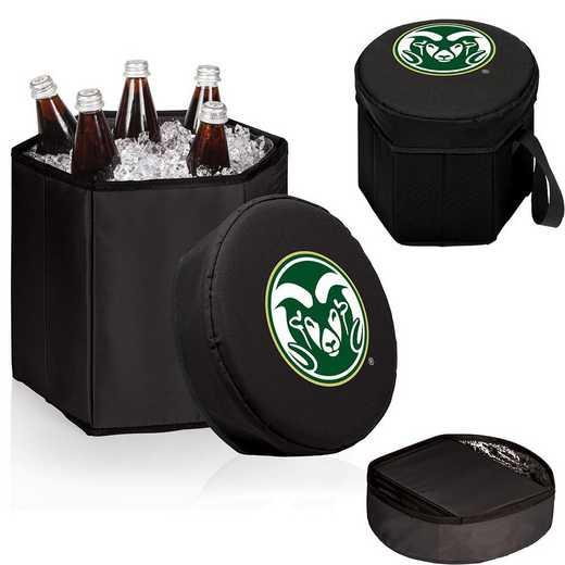 596-00-179-134-0: Colorado State Rams - Bongo Cooler (Black)