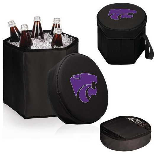 596-00-179-254-0: Kansas State Wildcats - Bongo Cooler (Black)