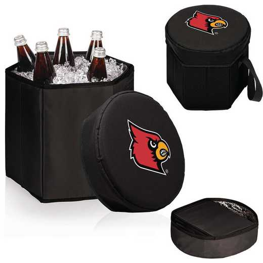596-00-179-304-0: Louisville Cardinals - Bongo Cooler (Black)