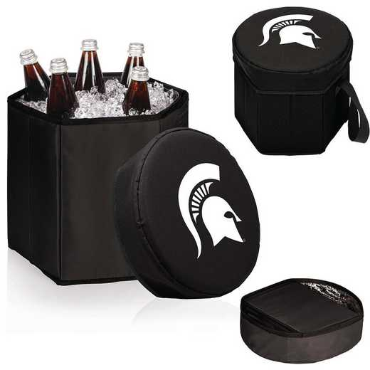 596-00-179-354-0: Michigan State Spartans - Bongo Cooler (Black)