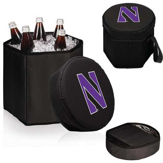 596-00-179-434-0: Northwestern Wildcats - Bongo Cooler (Black)