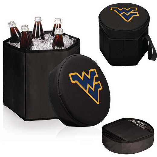 596-00-179-834-0: West Virginia Mountaineers - Bongo Cooler (Black)