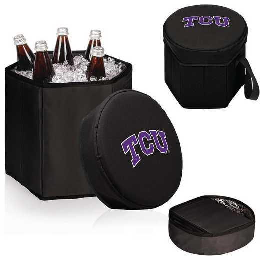 596-00-179-844-0: TCU Horned Frogs - Bongo Cooler (Black)