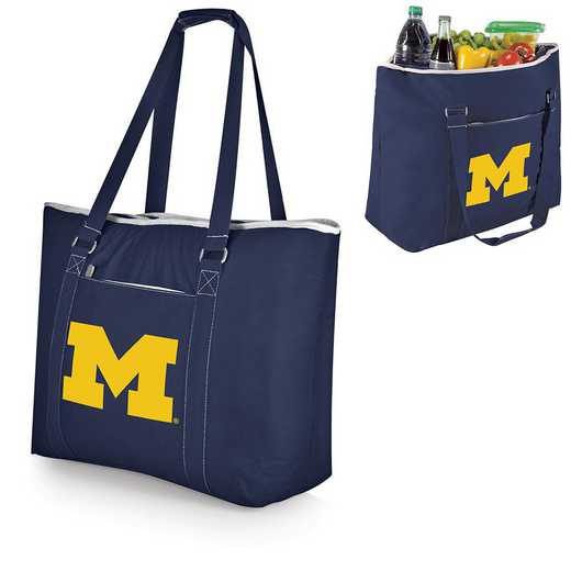 598-00-138-344-0: Michigan Wolverines - Tahoe Cooler Tote (Navy)