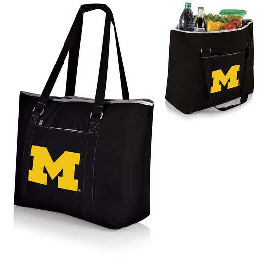 598-00-175-344-0: Michigan Wolverines - Tahoe Cooler Tote (Black)
