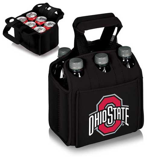 608-00-179-444-0: Ohio State Buckeyes - Six Pack Beverage Carrier (Black)