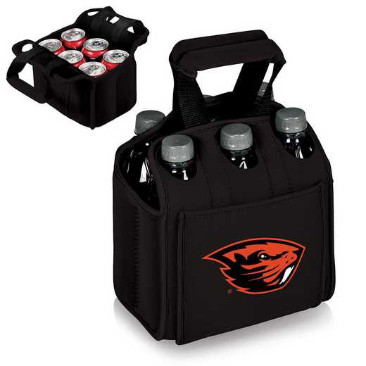 608-00-179-484-0: Oregon State Beavers - Six Pack Beverage Carrier (Black)