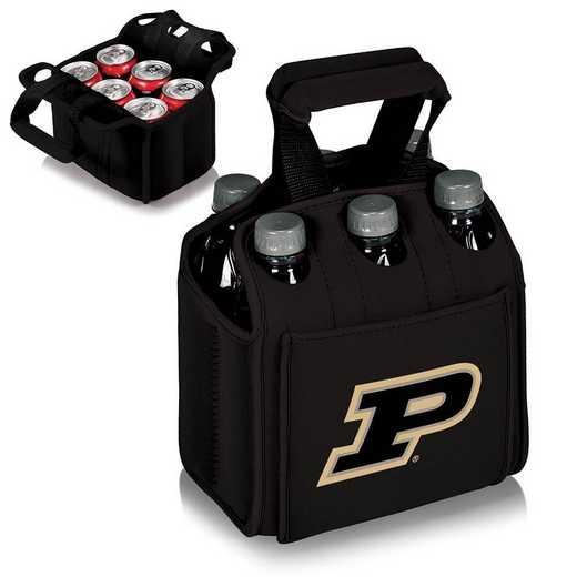 608-00-179-514-0: Purdue Boilermakers - Six Pack Beverage Carrier (Black)