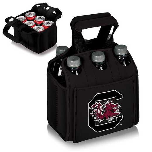 608-00-179-524-0: South Carolina Gamecocks - Six Pack Beverage Carrier (Black)