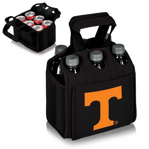 608-00-179-554-0: Tennessee Volunteers - Six Pack Beverage Carrier (Black)