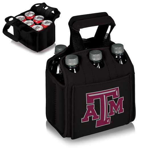 608-00-179-564-0: Texas A&M Aggies - Six Pack Beverage Carrier (Black)