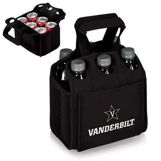 608-00-179-584-0: Vanderbilt Commodores - Six Pack Beverage Carrier (Black)