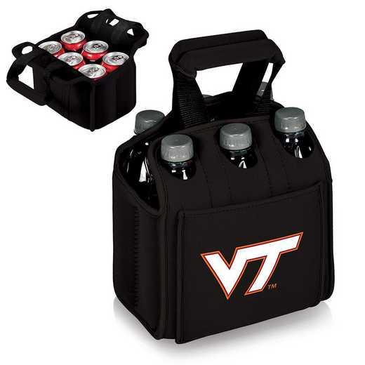 608-00-179-604-0: Virginia Tech Hokies - Six Pack Beverage Carrier (Black)