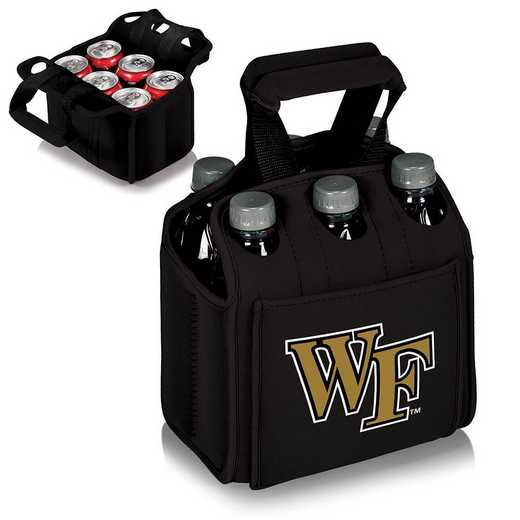 608-00-179-614-0: Wake Forest Demon Deacons Six Pack Beverage Carrier (Black)