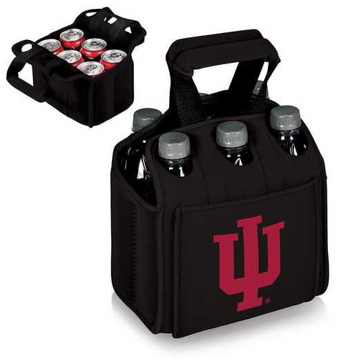 608-00-179-674-0: Indiana Hoosiers - Six Pack Beverage Carrier (Black)