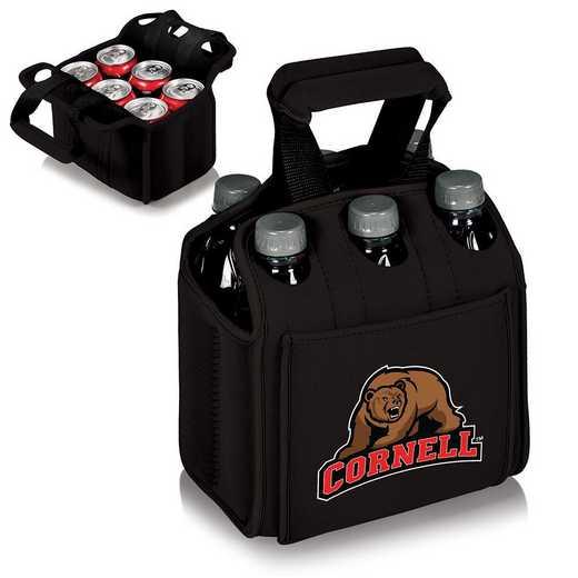 608-00-179-684-0: Cornell Big Red - Six Pack Beverage Carrier (Black)