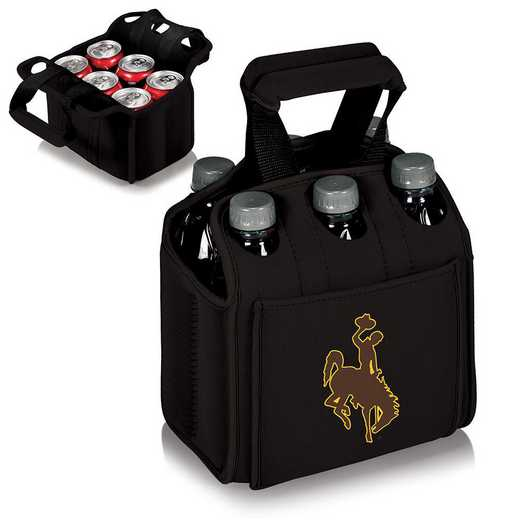608-00-179-694-0: Wyoming Cowboys - Six Pack Beverage Carrier (Black)