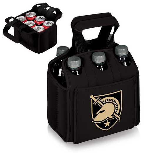 608-00-179-764-0: West Point Black Knights - Six Pack Beverage Carrier (Black)