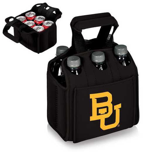608-00-179-924-0: Baylor Bears - Six Pack Beverage Carrier (Black)