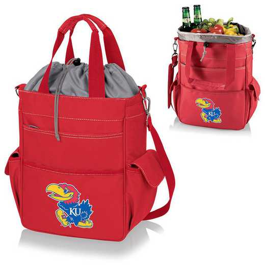 614-00-100-244-0: Kansas Jayhawks - Activo Cooler Tote (Red)