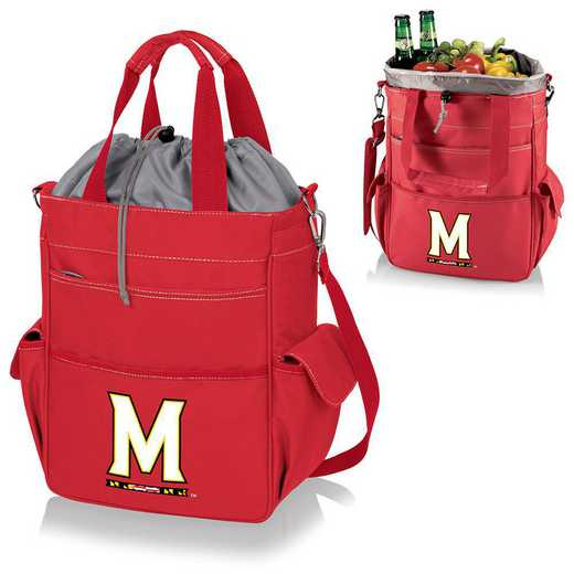 614-00-100-314-0: Maryland Terrapins - Activo Cooler Tote (Red)
