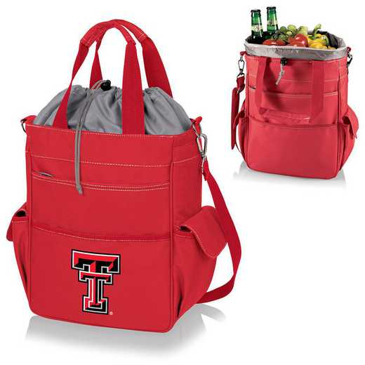 614-00-100-574-0: Texas Tech Red Raiders - Activo Cooler Tote (Red)
