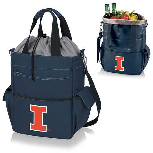 614-00-138-214-0: Illinois Fighting Illini - Activo Cooler Tote (Navy)
