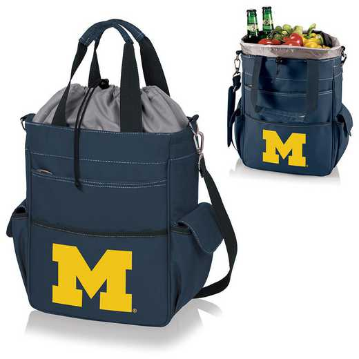 614-00-138-344-0: Michigan Wolverines - Activo Cooler Tote (Navy)