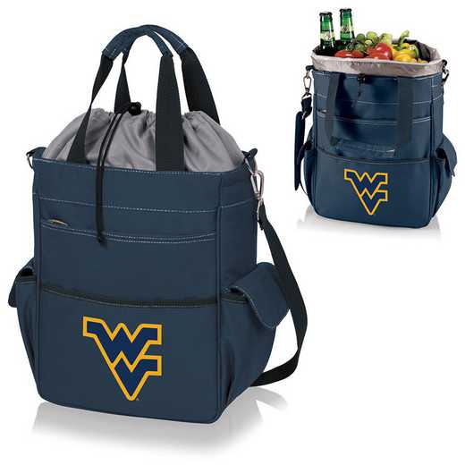 614-00-138-834-0: West Virginia Mountaineers - Activo Cooler Tote (Navy)