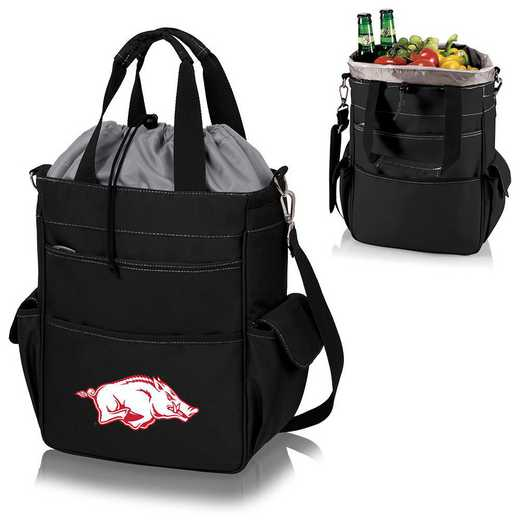 614-00-175-034-0: Arkansas Razorbacks - Activo Cooler Tote (Black)