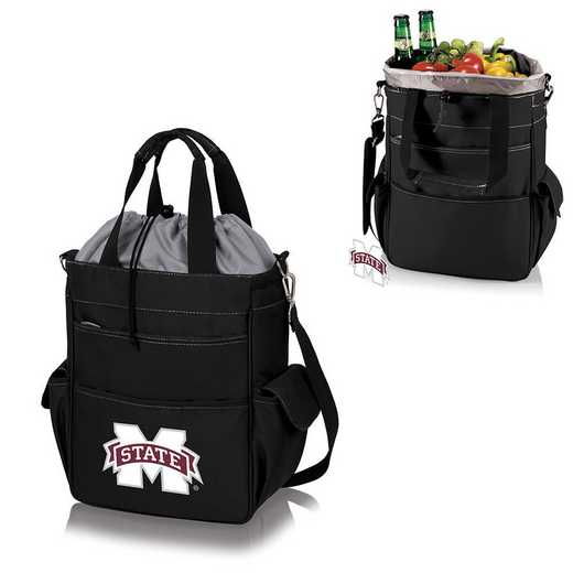 614-00-175-384-0: Mississippi State Bulldogs - Activo Cooler Tote (Black)