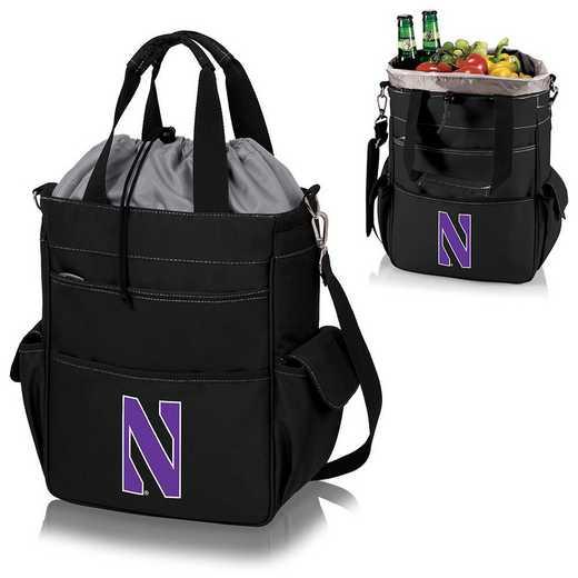 614-00-175-434-0: Northwestern Wildcats - Activo Cooler Tote (Black)