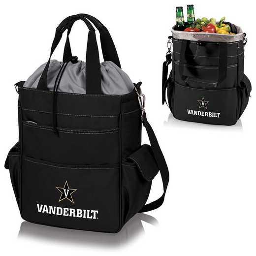 614-00-175-584-0: Vanderbilt Commodores - Activo Cooler Tote (Black)