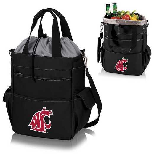 614-00-175-634-0: Washington State Cougars - Activo Cooler Tote (Black)