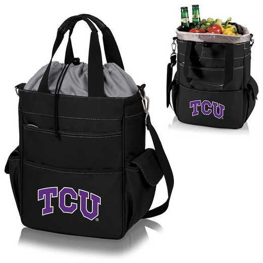 614-00-175-844-0: TCU Horned Frogs - Activo Cooler Tote (Black)