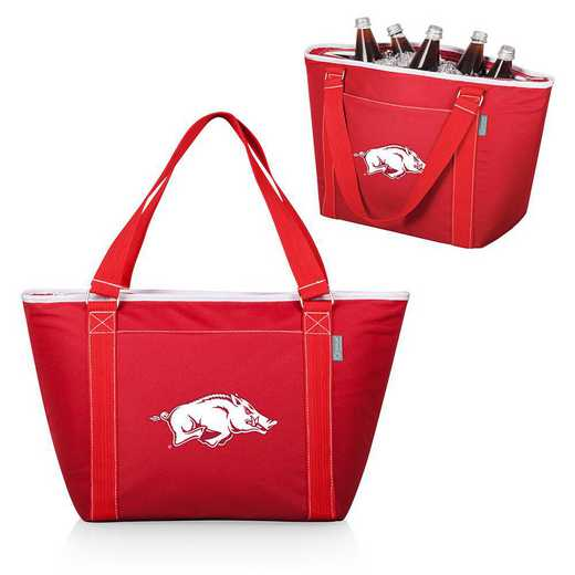 619-00-100-034-0: Arkansas Razorbacks - Topanga Cooler Tote (Red)